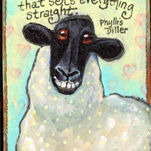 Art: Sheep Smiles by Artist Catherine Darling Hostetter