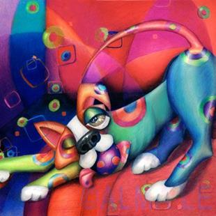 Art: K9.5 Spot the Dog (Sold) by Artist Alma Lee