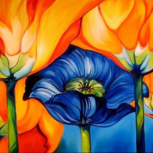 Art: MIDNIGHT POPPY by Artist Marcia Baldwin