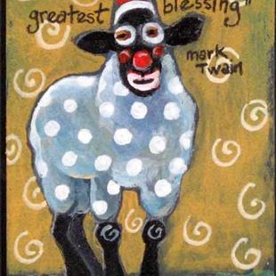 Art: Sheep Humor by Artist Catherine Darling Hostetter