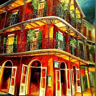 Art: French Quarter Joie - SOLD by Artist Diane Millsap