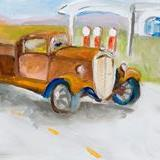 Art: Back on the Road Again-sold by Artist Delilah Smith