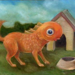 Art: Guppy not Puppy by Artist Vicky Knowles