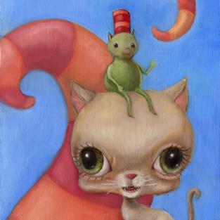 Art: PicklePuss by Artist Vicky Knowles