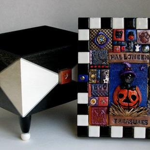Art: Halloween Treasures  by Artist Melinda Dalke