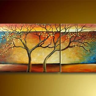 Art: Two Trees by Artist Ewa Kienko Gawlik