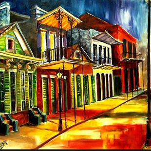 Art: Side Street in the Vieux Carre - SOLD by Artist Diane Millsap