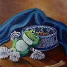 Art: A Dog's Life: Polish Pottery XXXV by Artist Heather Sims