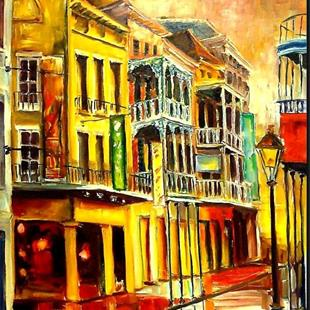 Art: Dusk on Iberville Street - SOLD by Artist Diane Millsap