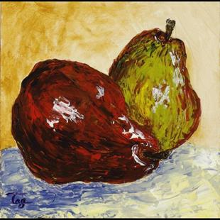 Art: 2 Pears - available by Artist Tracey Allyn Greene