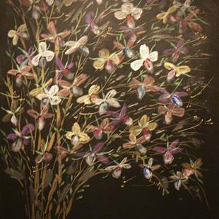 Art: Orchid Tree by Artist Rebecca M Ronesi-Gutierrez