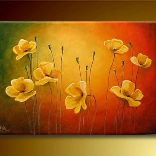 Art: Yellow Poppies by Artist Ewa Kienko Gawlik