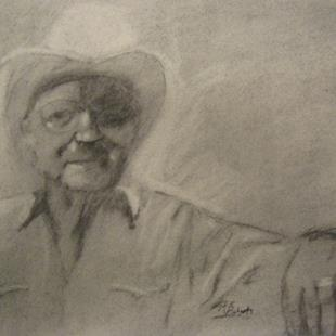 Art: Heart of The West (charcoal) by Artist Kathleen Ralph
