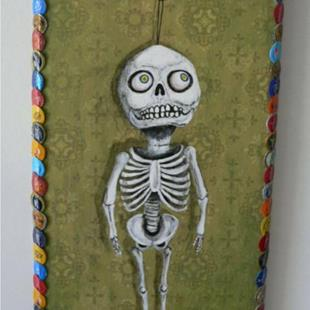 Art: the skeleton in her closet by Artist Sara Field