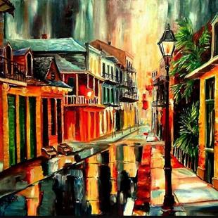 Art: French Quarter Magic - SOLD by Artist Diane Millsap