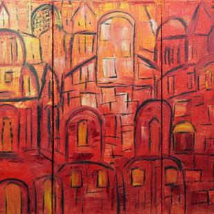 Art: JERUSALEM IN SUNSET by Artist LUIZA VIZOLI