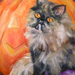 Art: A PURRRFect Halloween by Artist Deborah Sprague