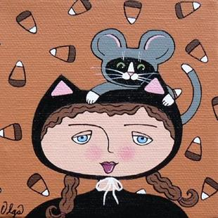 Art: cat & mouse by Artist S. Olga Linville