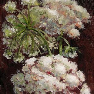 Art: Queen Anne's Lace by Artist Erika Nelson