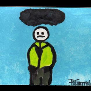 Art: Dark Cloud (sold) by Artist PJ Gorman