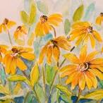 Art: Black Eyed Susans by Artist Delilah Smith