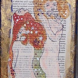 Art: The Water Snakes original painting ala Klimt by Artist Nancy Denommee