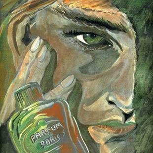 Art: Green Eyes French Perfume by Artist Naquaiya