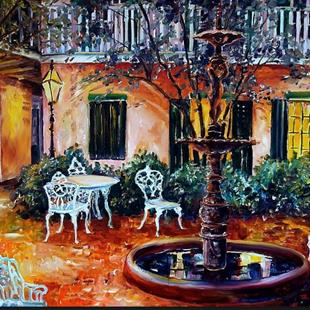 Art: New Orleans Courtyard by Artist Diane Millsap