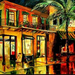 Art: Frenchman's Street - SOLD by Artist Diane Millsap