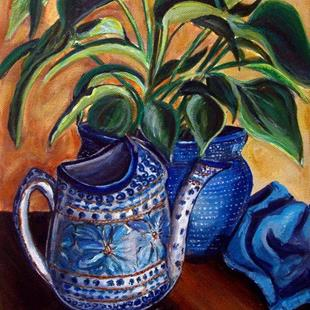 Art: Watering Time: Polish Pottery XLIV© by Artist Heather Sims