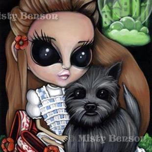 Art: No Place Like Home - Dorothy & Toto by Artist Misty Benson