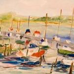 Art: Bay of Boats No.3 by Artist Delilah Smith