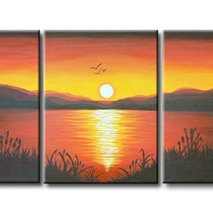 Art: PEACEFUL SUNSET by Artist Kate Challinor