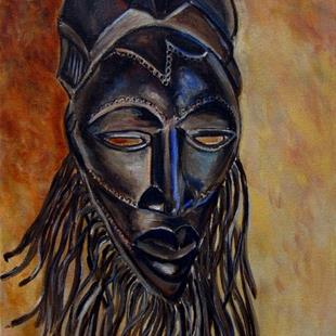 Art: Nigerian Mask: Africa III© by Artist Heather Sims