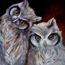 Art: SAY WHAT ? HOOT OWLS by Artist Marcia Baldwin