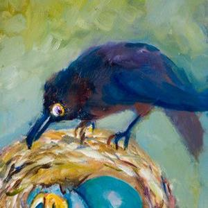 Art: Morning Intruder-sold by Artist Delilah Smith