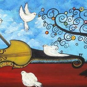 Art: Peace and Music by Artist Juli Cady Ryan