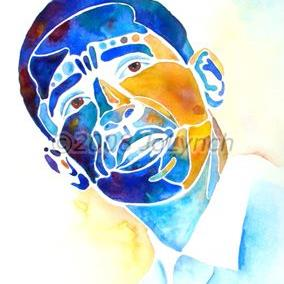 Art: Whimzical Obama by Artist Jo Lynch