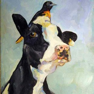 Art: The Moo Knows by Artist Catherine Darling Hostetter