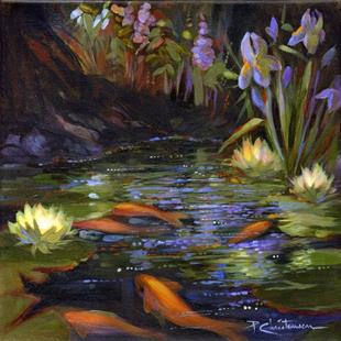 Art: Golden Koi Pond I by Artist Patricia  Lee Christensen