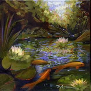 Art: Golden Koi Pond II by Artist Patricia  Lee Christensen