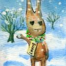Art: Bunny Got Snow by Artist Erika Nelson