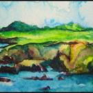 Art: Cliffs of IRELAND SOLD by Artist Dottie Cooper Katz