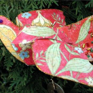 Art: Christmas Peace Dove by Artist Ann Murray