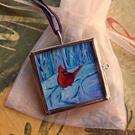 Art: Winter Wonderland ~ Glass Locket ~ SOLD by Artist Dana Marie