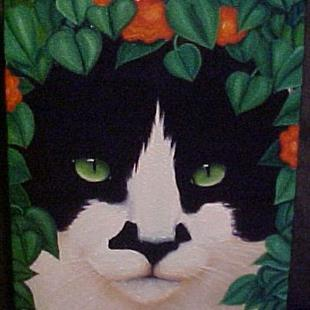 Art: ZORRO'S PORTRAIT by Artist Rosemary Margaret Daunis