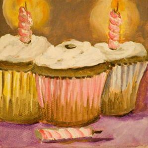Art: Birthday Party Cupcakes No.2-sold by Artist Delilah Smith