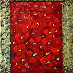 Art: RED POPPIES by Artist LUIZA VIZOLI