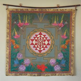 Art: Lalita's Garden Wall Hanging or Square by Artist Nadean O'Brien