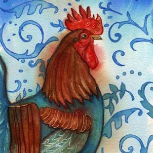 Art: Poulet by Artist Catherine Darling Hostetter